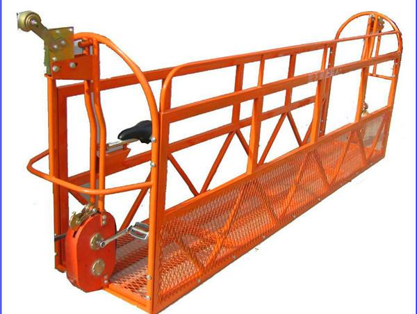 1000 kg 7.5 mx 3 Bölüm Alüminyum Alaşım Asma Çalışma Platformu ZLP1000