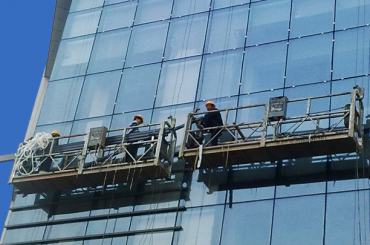 Dökme demir karşı ağırlık ile 2 kişi halat platform zlp630 askıya