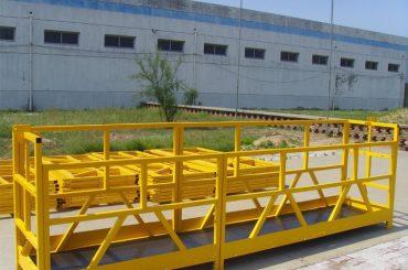 zlp 800 yüksek artışlı bina pencere temizleme platformu 300m 2.5m * 3 1.8kw 800kg