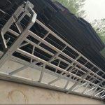 Zlp630 / 800 ll şekil alüminyum alaşımlı, çelik konstrüksiyon asma pencere üzerinde çalışma platformu kaldırma askıya