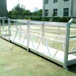 Sal serisi emniyet kilidi ile çelik / alüminyum asma platformlar