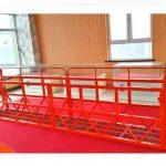 çelik askıya alınmış erişim platformları 7.5m 1.8kw 800kg bina bakımı