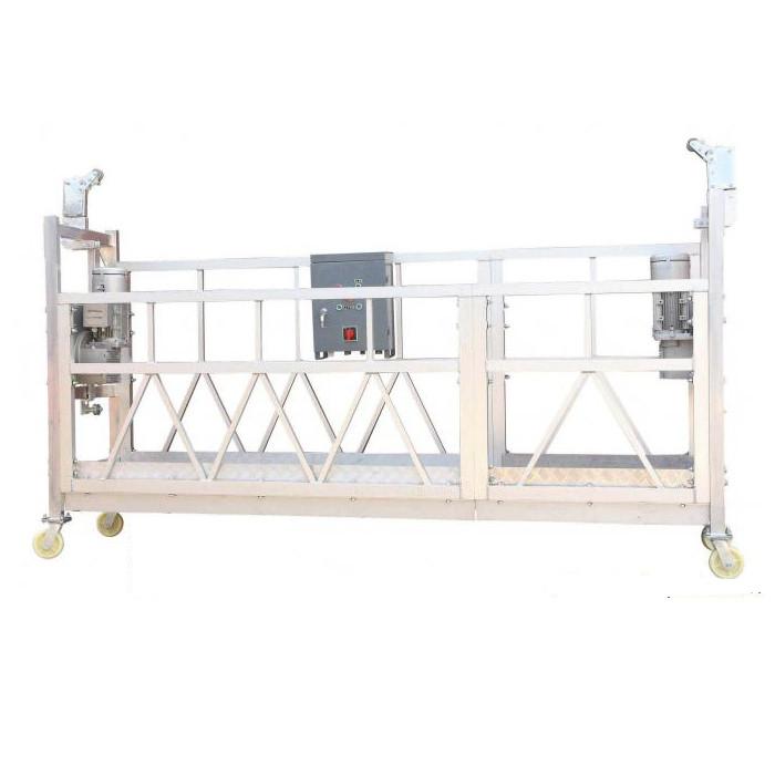 Bina Dış Cephe Boyama için Çelik Boyalı Sıcak Galvanizli Alüminyum ZLP630 Asma Çalışma Platformu
