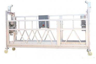 çelik boyalı / sıcak galvanizli / alüminyum zlp630 bina cephe boyası için çalışma platformu askıya alındı