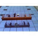 30kn emniyet kilidi zlp1000 2.2kw 2.5m * 3 ile güçlü inşaat halatı askıya platformu