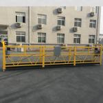 inşaat için ce sertifikalı zlp630 alüminyum elektrikli asılı gondol