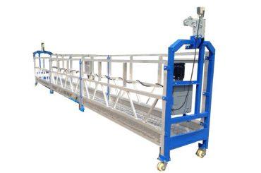 500 kg 2 m * 2 bölüm alüminyum alaşımlı askıya alma ekipmanı zlp500